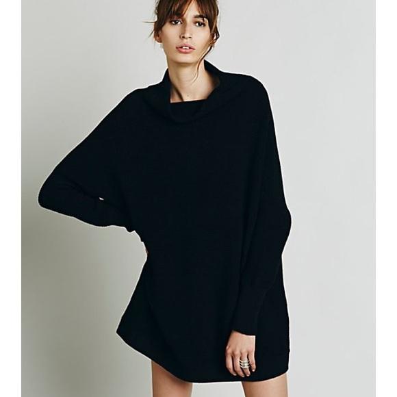 Free People Sweaters Ottoman Slouchy Tunic Black Xs Poshmark